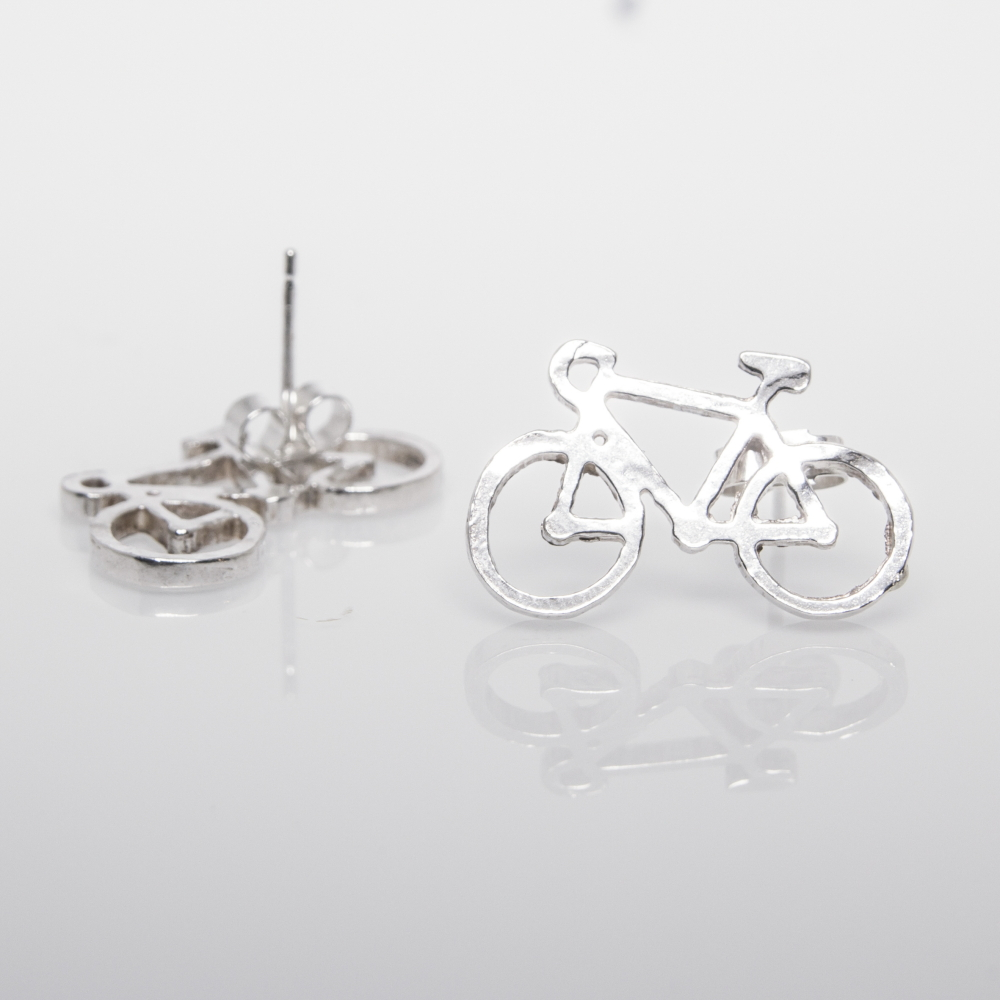 Cycling Earrings- Sterling Silver Unique Gifts