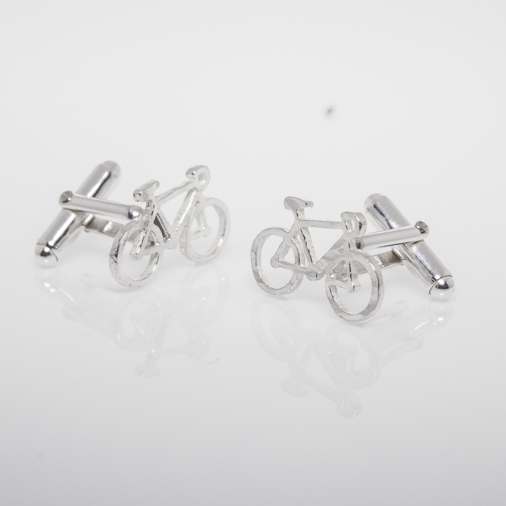 Bike Cufflinks- Sterling Silver Gifts for Men