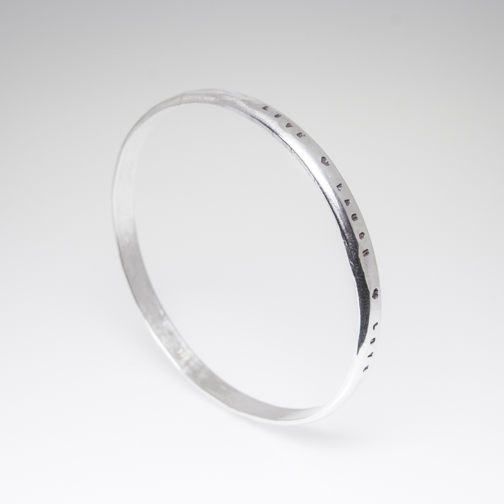 Bespoke Silver Jewellery- Precious Metal Bangle