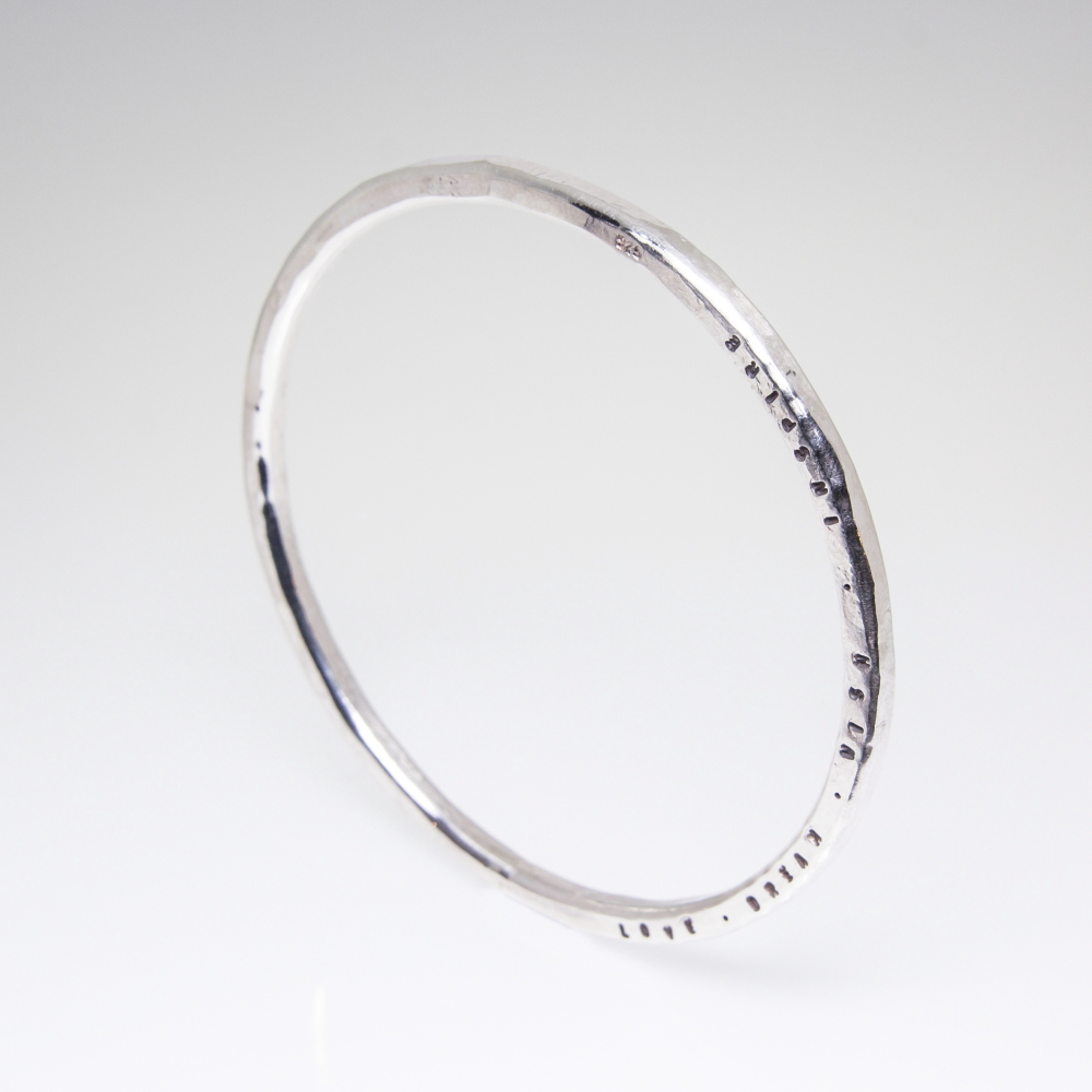 Personalised Gifts- Sterling Silver Bangle