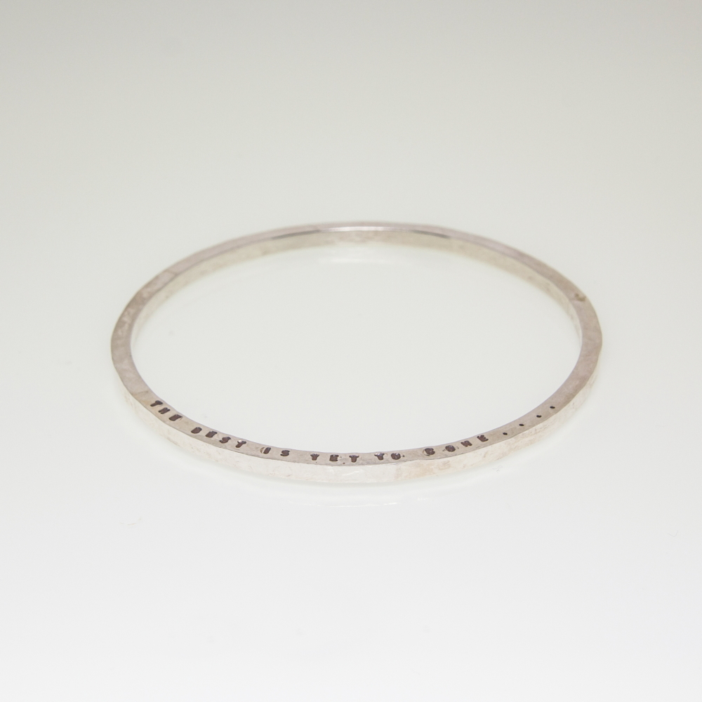 Solid Sterling Silver Bracelet- Personalised Jewellery
