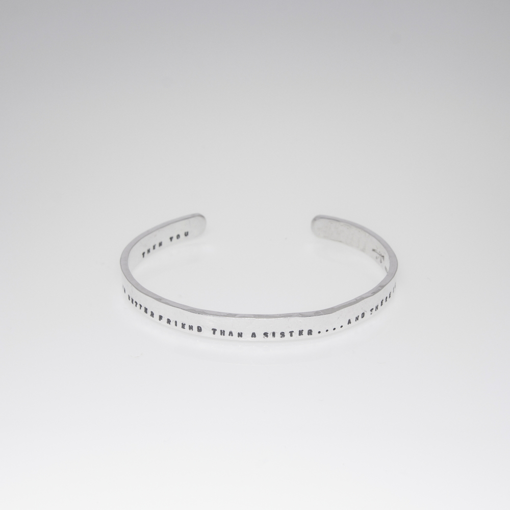 Personalised Message Bracelet- Sold Sterling Silver Adjustable Bracelet
