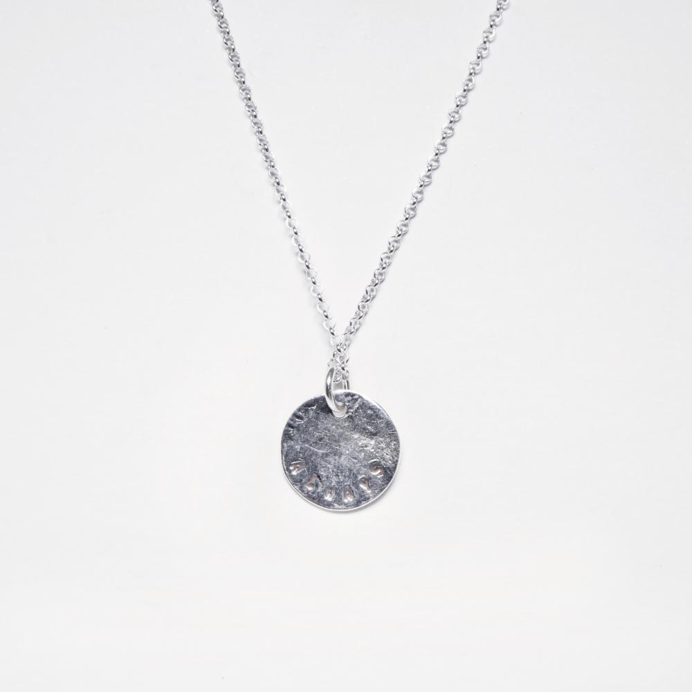 Circle Disc Pendant Necklace- Handmade Jewellery UK