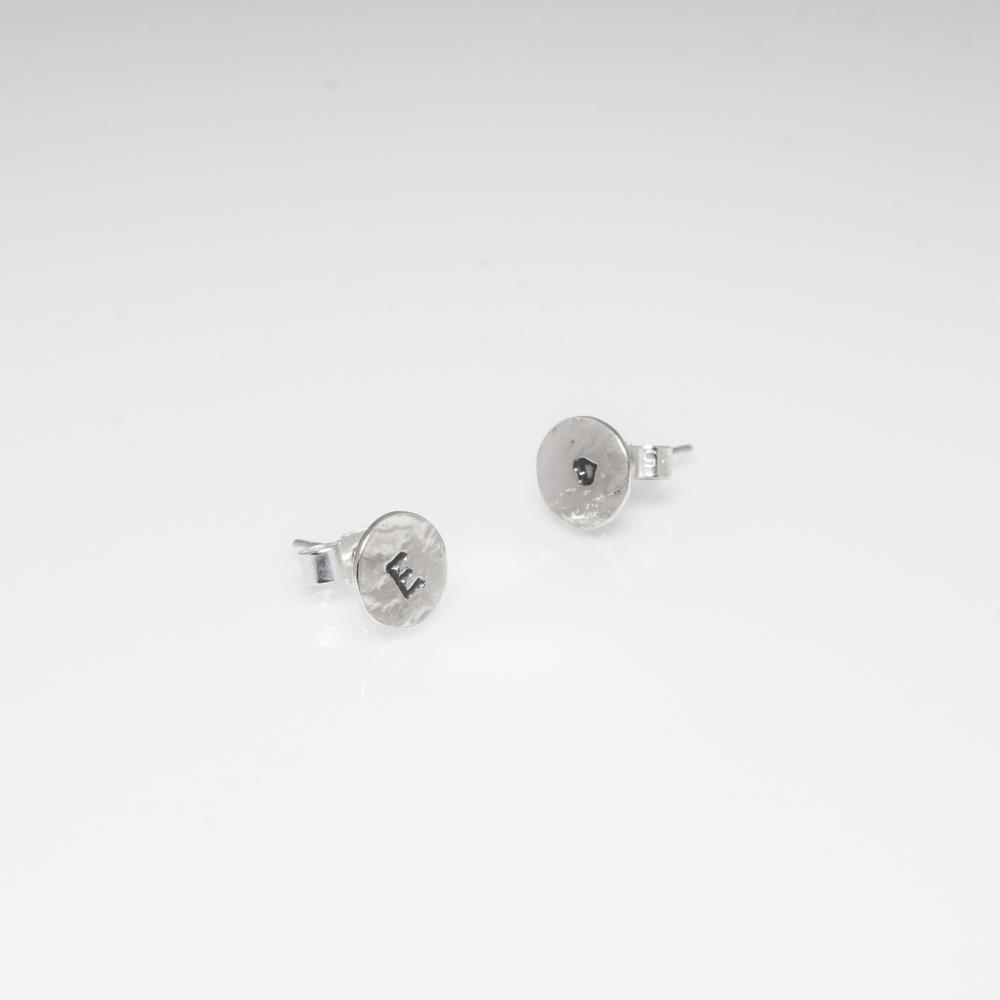 Personalised Stud Earrings in Sterling Silver