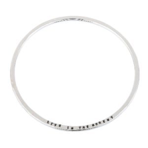 Personalised Jewellery- Sterling Silver Message Bracelet