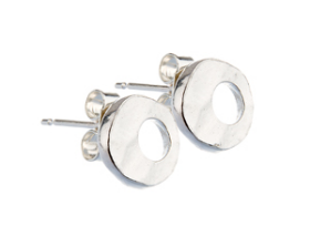 Sterling Silver Sud Earrings- Contemporary Design