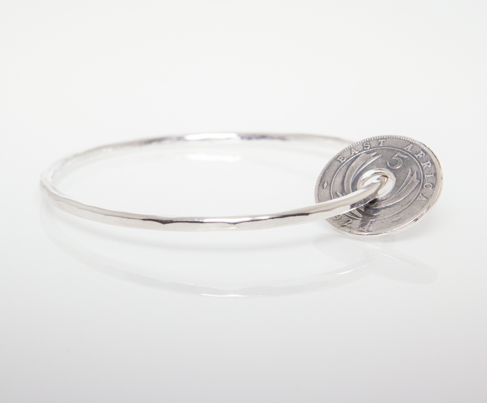 Sterling Silver Fashion Jewellery- Bangle with Pendant