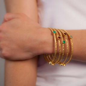 Contemporary stacking bangles
