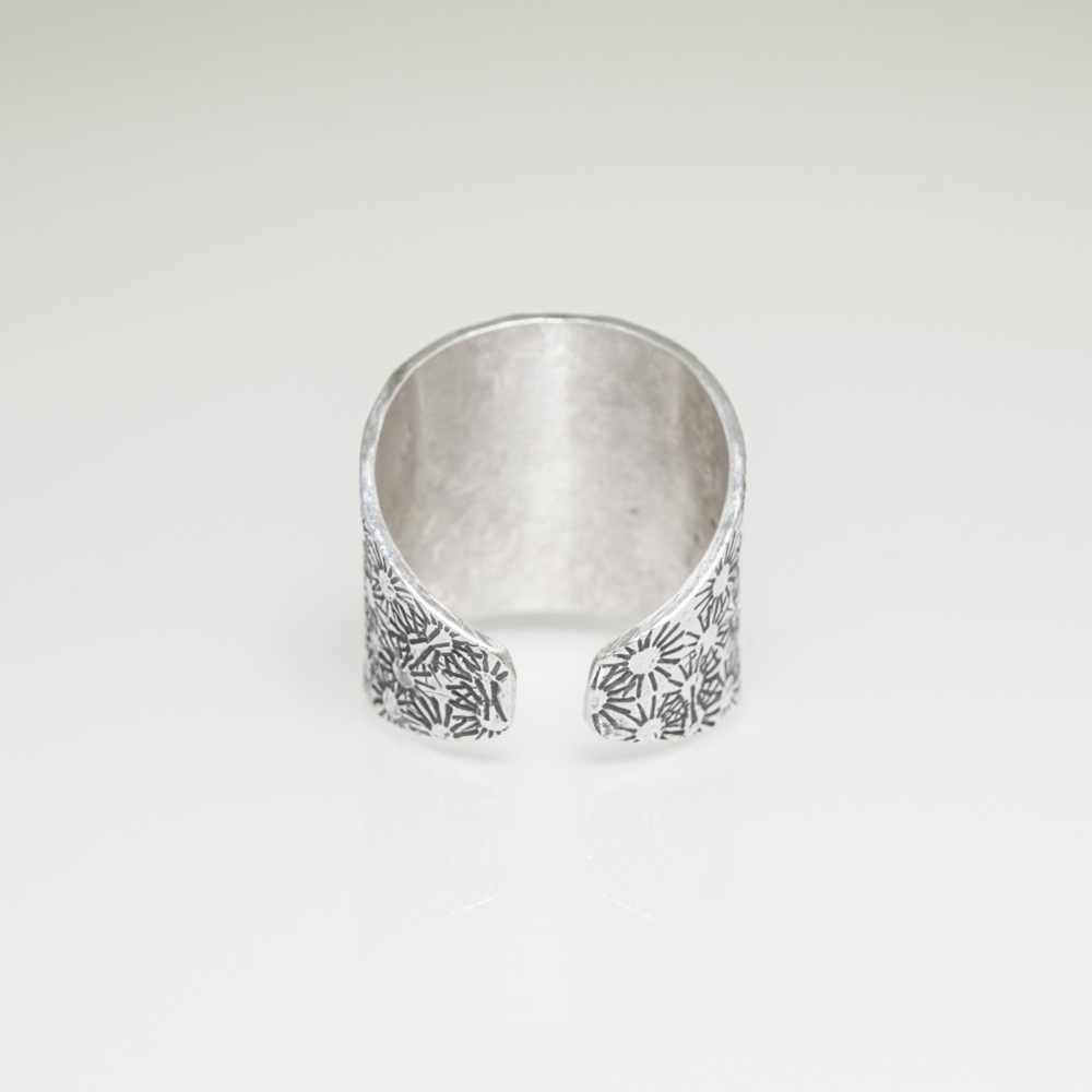 Solid Sterling Silver Adjustable Ring