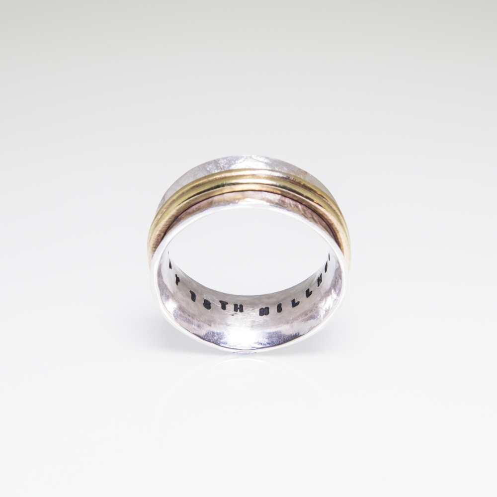 Sterling Silver Ring With Inside Personalised Print
