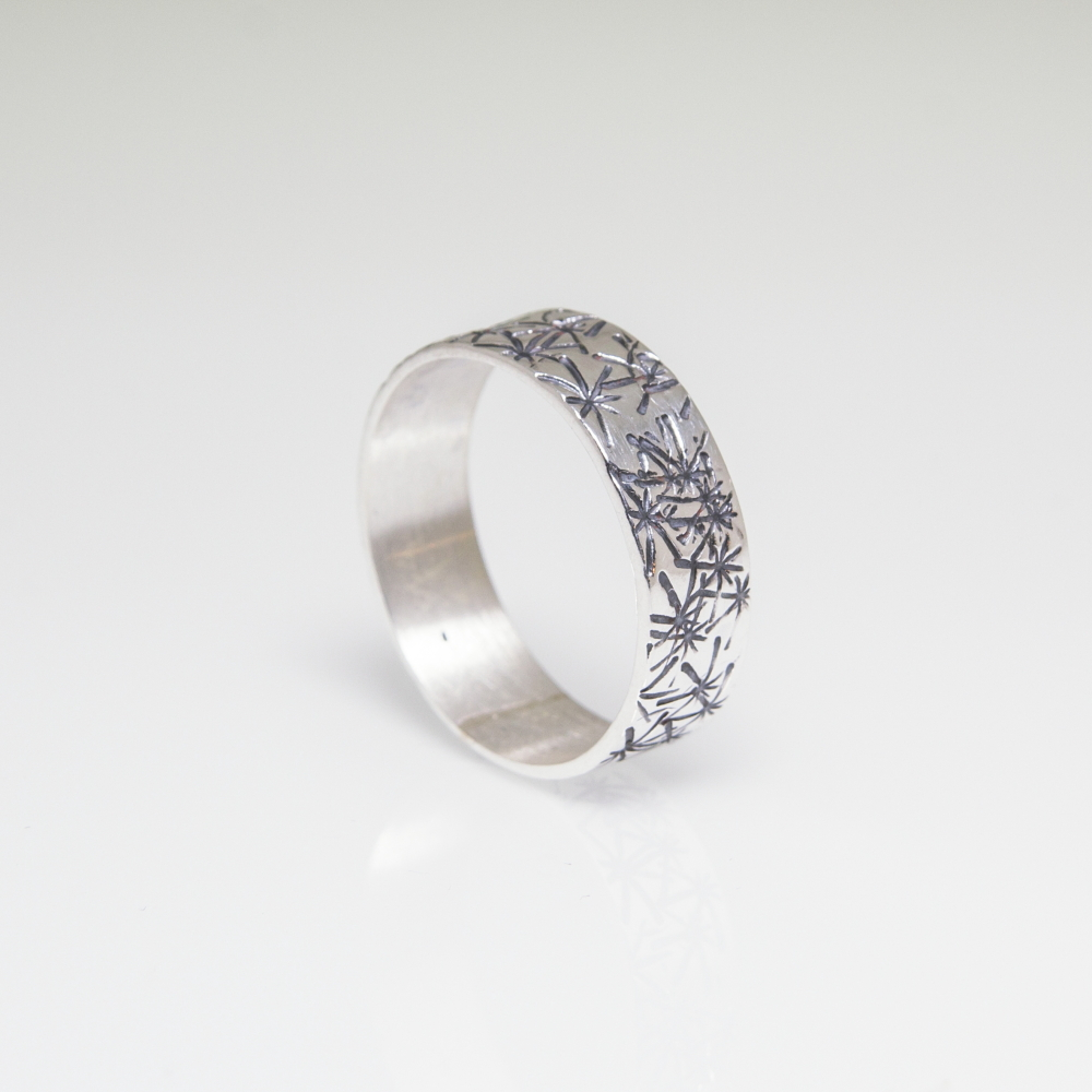 Sterling Silver Band Ring by Castle Collection