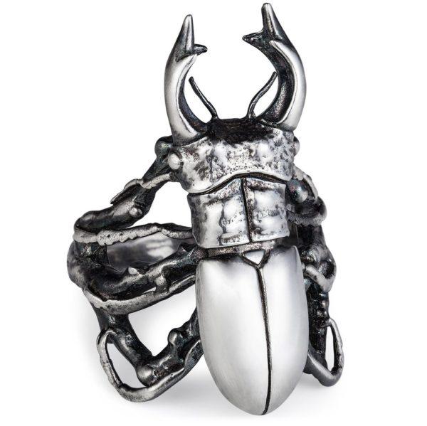 Sterling Silver Handmade Jewellery- Beetle
