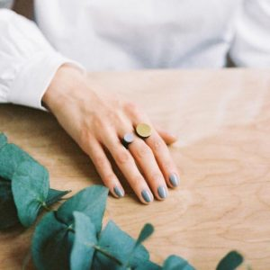 Circle Dot Ring by Wolf and Moon- pink